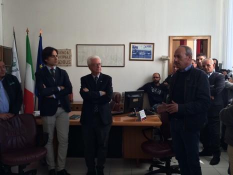 Giuseppe Falcomata' incontra i lavoratori dell'Atam