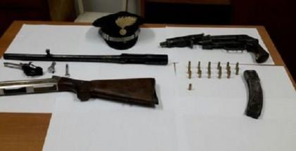 Carabinieri rinvengono armi e munizioni in alveo fiume a Soveria Mannelli