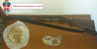 fucile da caccia trovato a samo