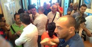 Sit-in lavoratori ex Multiservizi nella sede Inps di Reggio Calabria