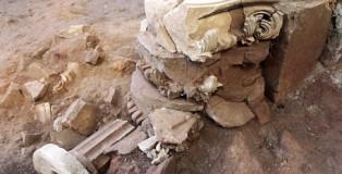 Capitello rinvenuto durante scavi archeologici a Tiriolo