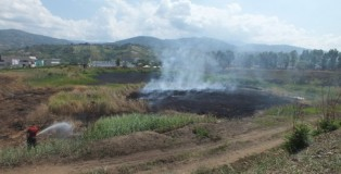 Incendi nell'ex stabilimento Legnochimica