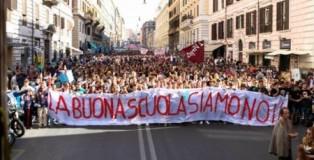 protesta studenti contro buona scuola