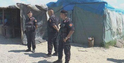 carabinieri alla tendopoli di san ferdinando