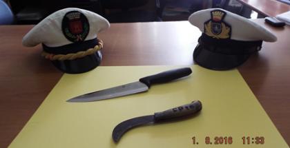 coltelli usati per le minacce a palmi