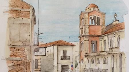 La bellezza della Chiesa Matrice di Taurianova Uno dei campanili raffigurato nell'arte di Francesco Fontana
