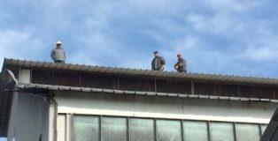 BUCITA operai sul tetto