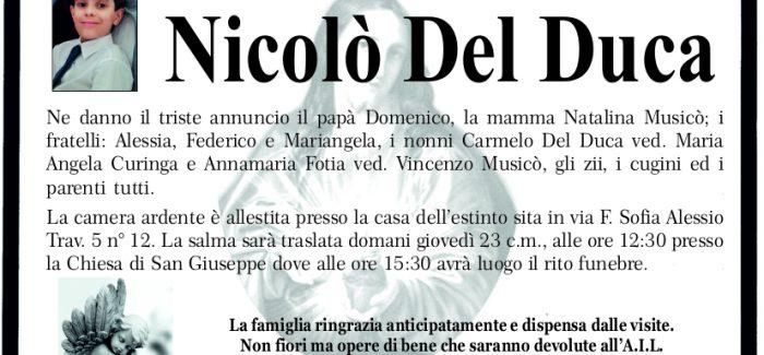 Taurianova, si è spento a soli 10 anni il piccolo Nicolò I funerali si terranno oggi alle 15.30