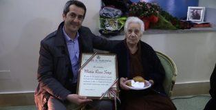 la centenaria Maria Rosa Sergi con il sindaco Fabio Scionti